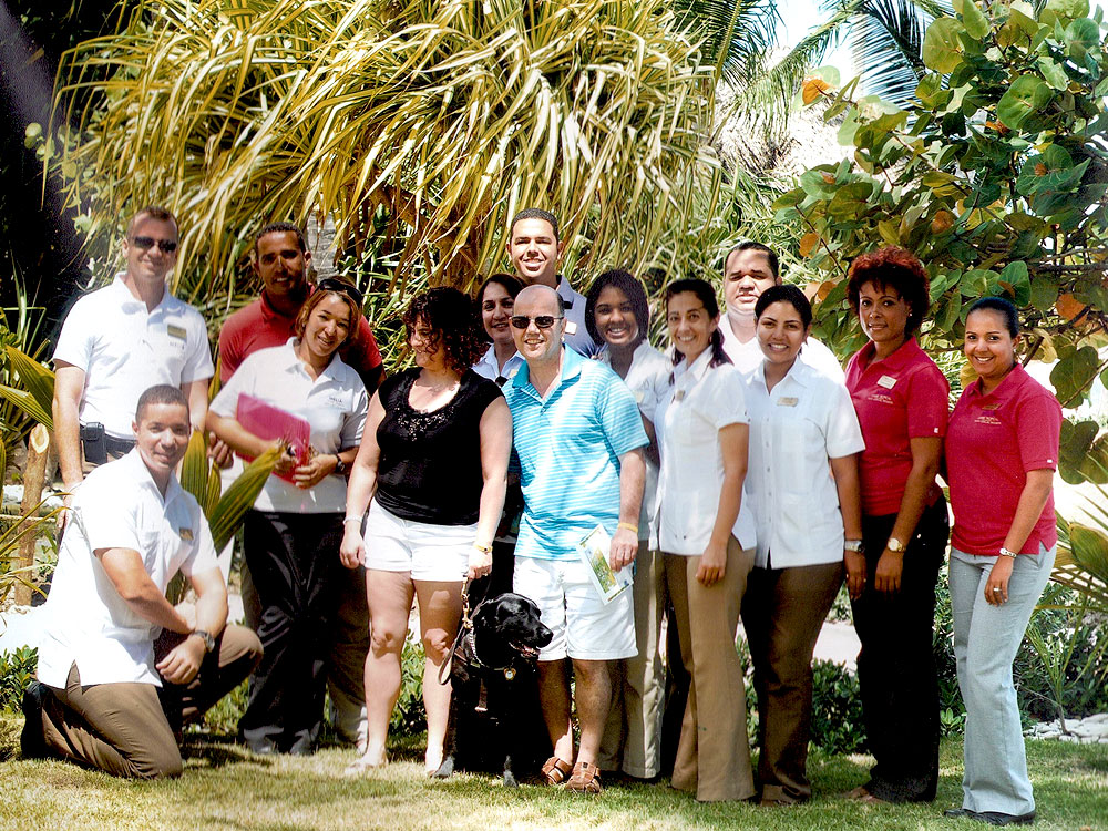 Orly Speaking to Melia Resort Staff  - Sensitivity Training - Punta Cana Dominican Republic