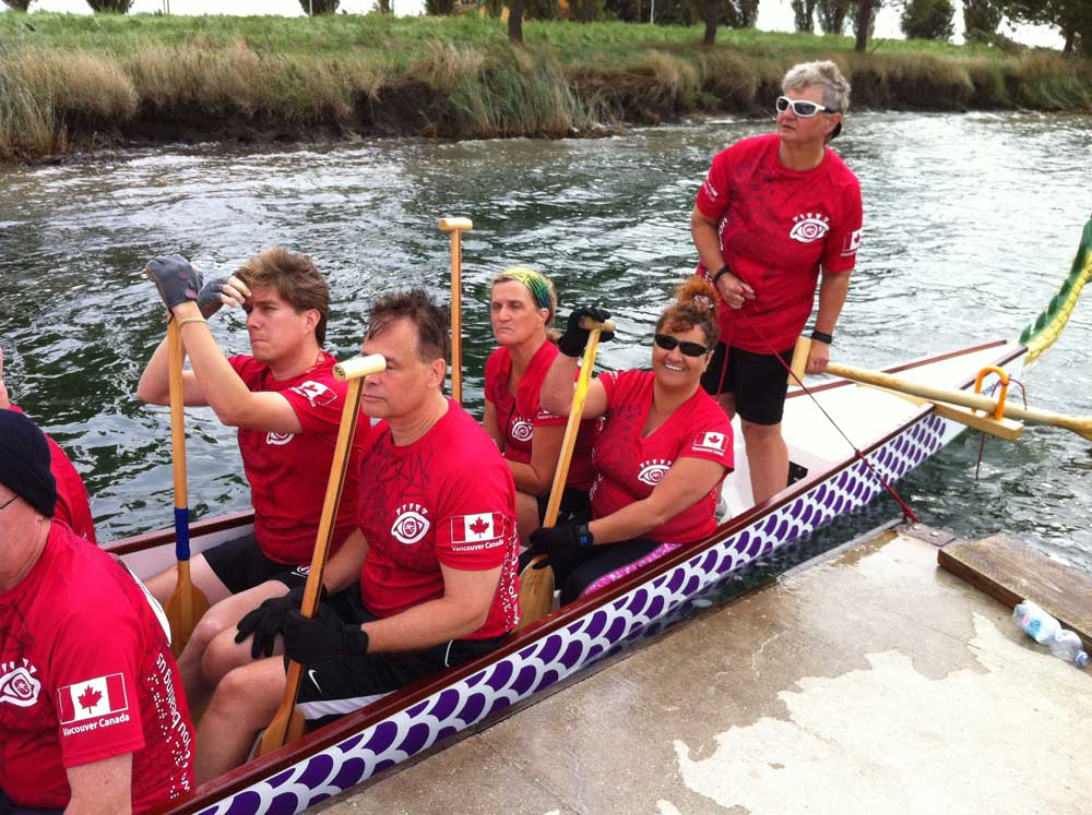 World Dragonboat Championships Ravenna Italy - Raced on a team from Vancouver, BC Eye of the Dragon