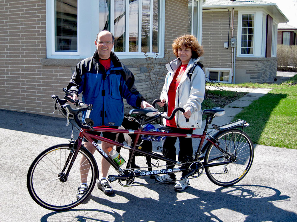 Tandem Cycling With Husband Amit
