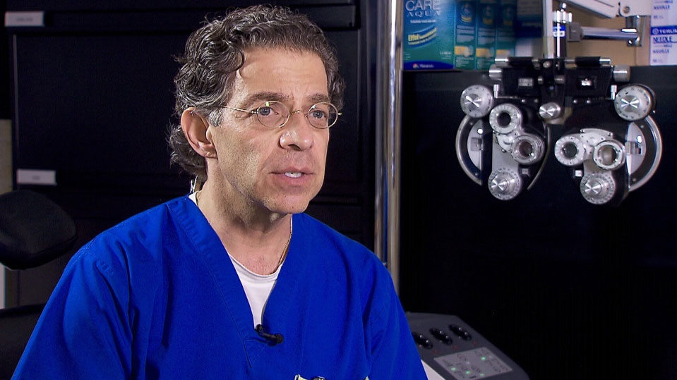 Dr. Robert Devenyl, vitreoretinal surgeon and Professor of Ophthalmology and Vision Sciences at the University of Toronto, speaks with CTV News in Toronto, Tue, Oct 14, 2014